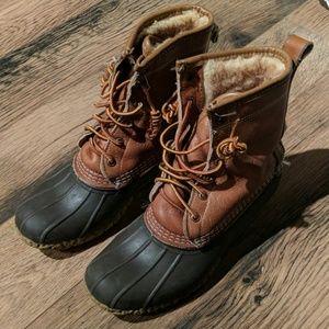 Fur-lined LL Bean Bean Boot